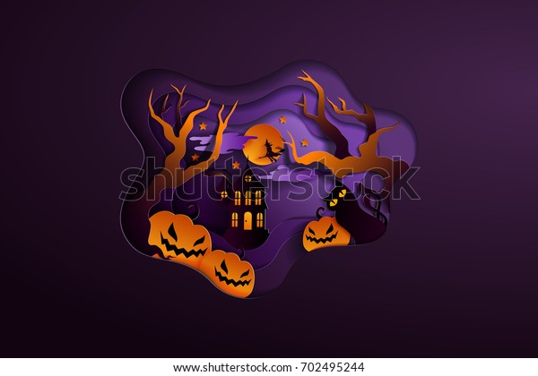 Halloween Poster Background Free.Happy Halloween Poster Background Pumpkin On Stock Vector
