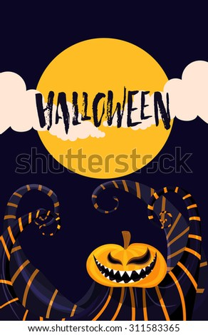 happy halloween poster template your design stock vector royalty