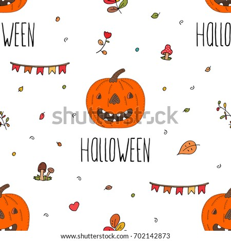 Happy Halloween Print Pumpkin Printable Templates Stock Vector