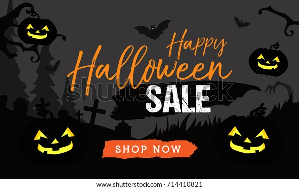 Halloween sale banner stock vector. Illustration of shop - 26761097
