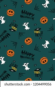Happy Halloween Seamless All Over Prints