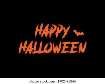 Happy Halloween spooky lettering pattern.  Happy Halloween black text pattern.  Halloween scary pattern.
