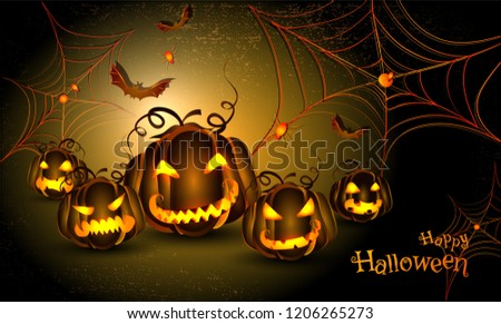 Happy Halloween Template Flyer Design Scary Stock Vector Royalty