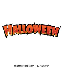 Happy Halloween Text Banner, Vector design template elements for your poster, invitation and greeting card