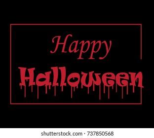 Happy Halloween Text Banner,Vector illustration