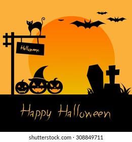 happy halloween vector design