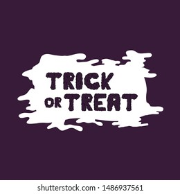 Happy Halloween Vector With Grime Style Purple Color Lettering Handwritten Calligraphy with web spiderman with texture for poster , banner , tshirt , party invitation