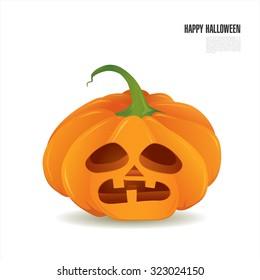 Happy halloween. Vector illustration of a pumpkin
