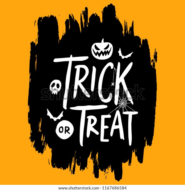 Happy Halloween Vector Lettering Quotes Banner Stock Royalty