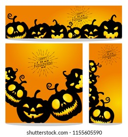 happy halloween vector, halloween theme set for header, web, background, banner and portrait banner etc