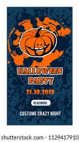 Happy halloween vertical banner. vector design elements