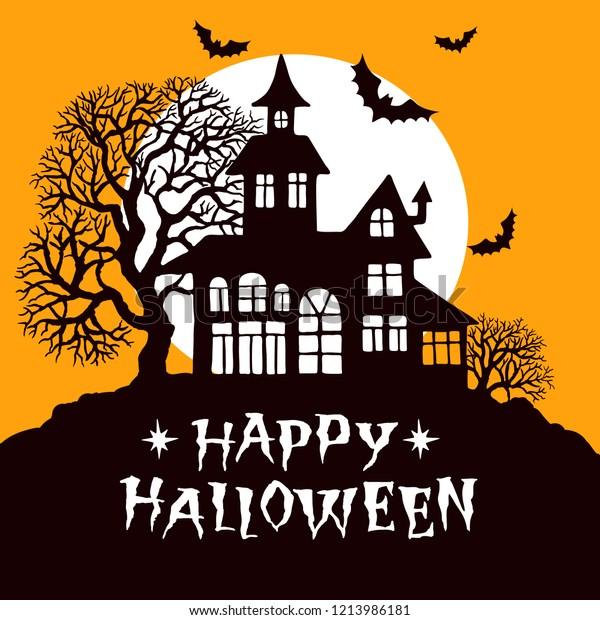 Happy Halloween Vintage Greeting Card Vector Stock Vector