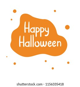 Happy Halloween.Lettering for Card, banner, poster on white background