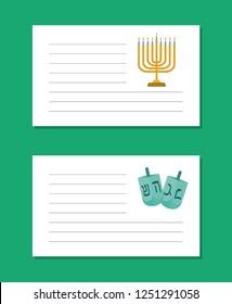 happy hanukkah celebration cards