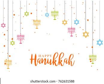 Happy Hanukkah Greeting Card,Invitation Card Design,Jewish Holiday.