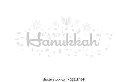 Happy Hanukkah  typographic vector design on White Background for greeting cards.Vector Illustration eps.10