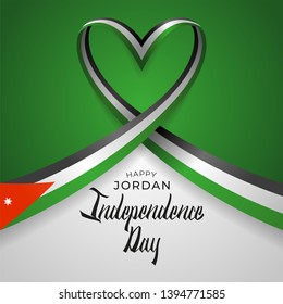 Happy hashemite Kingdom of Jordan Independence Day Vector Template Design Illustration