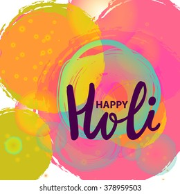 Happy Holi beckground vector, Indian festival of Colours, indian celebration