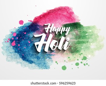 Happy Holi Celebrate festival abstrac new style background with white text . Indian Holi festival of colours,eps10