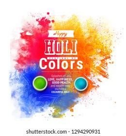 Happy Holi celebration greeting card   flyer design