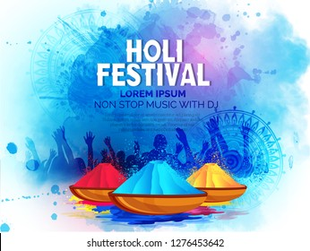 Happy Holi celebration ,Indian Festival of Colours