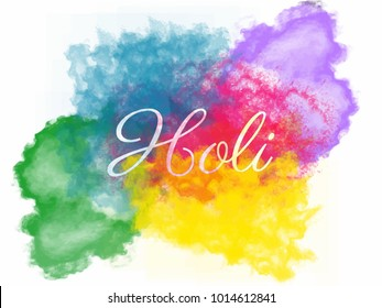 Happy holi color splash with water color effect. design for banner, poster and flyer. Background design with colors.
