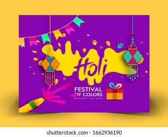 Happy Holi colorful posters Illustration of colorful background for Festival of Colors Happy holi vector elements for card design ,celebration design