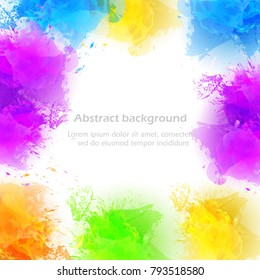 Happy Holi festival of colors greeting vector background