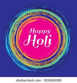 happy holi festive background design