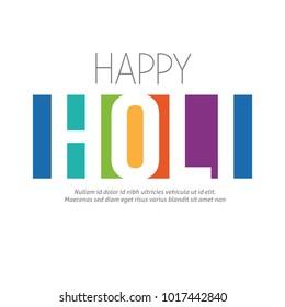 Happy Holi greeting vector background,