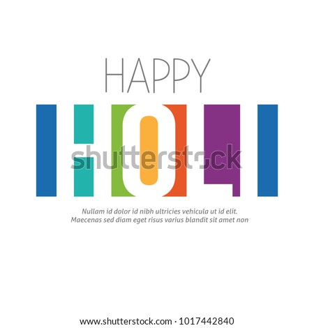 Happy Holi greeting vector background,