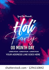 Happy Holi party, Festival of Colours, header ,poster banner