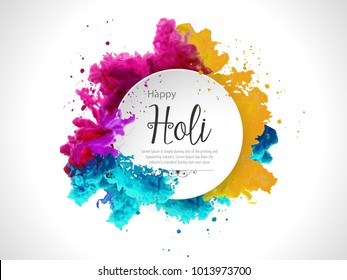 Happy holi vector elements for card design , Happy holi design