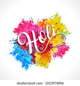 Happy holi vector elements for card design , Happy holi design