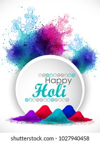 Happy holi vector elements for card design , Happy holi design.