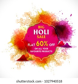 Happy holi vector elements for card design , Happy holi design.