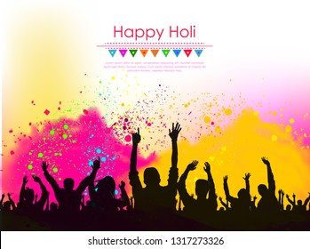Happy holi vector elements for card design , Happy holi design - Vector
