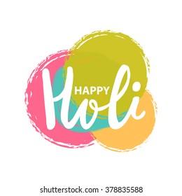 Happy Holi vector illustration, Indian festival Holi