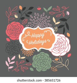 Happy holiday vector for card and decorate