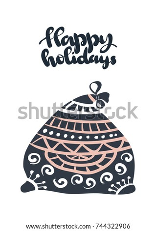 photo relating to Happy Holidays Printable Card referred to as Delighted Vacations Appealing Greeting Card Scratched Inventory