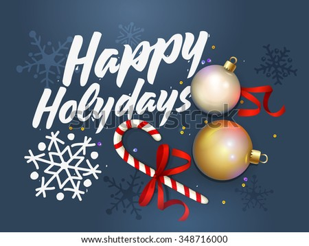 happy holidays card creative happy new year design vector illustration christmas background
