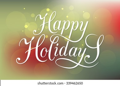 Happy holidays images stock photos vectors shutterstock happy holidays greeting card lettering celebration logo set typography for winter holidays calligraphic m4hsunfo Choice Image