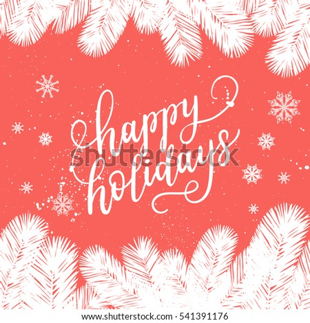 Happy holidays greeting card new year stock vector royalty free happy holidays greeting card for new year 2017 vector winter holiday background with hand lettering m4hsunfo