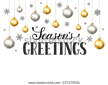 Happy Holidays Greeting Card Template Modern Stock Vector (Royalty ...