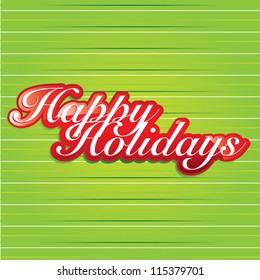 Happy Holidays Lockup