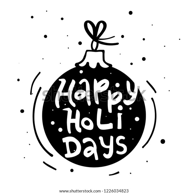 This is a picture of Happy Holidays Printable Card in cute