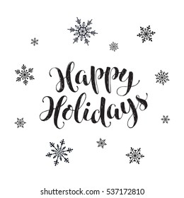 happy holidays postcard template modern new のベクター画像素材