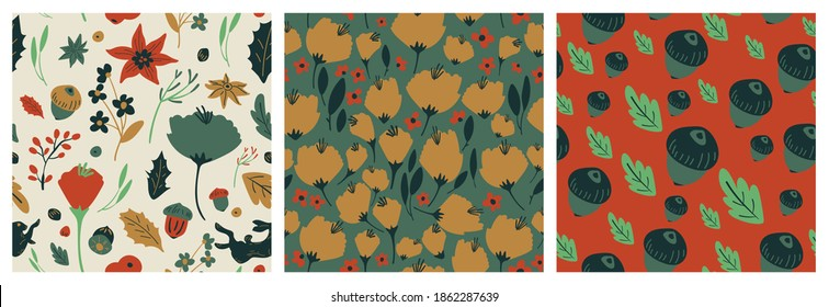 Happy Holidays Seamless pattern vector. Happy New year 2021 background. Happy Winter design concept for cover, invitation card, website banner, social media story and post.