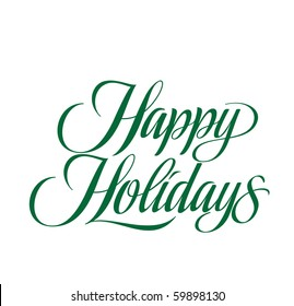 Happy Holidays Vector Lettering