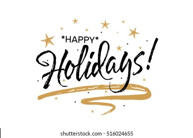 Christmas gold star images stock photos vectors shutterstock beautiful greeting card scratched calligraphy black text word gold stars hand drawn m4hsunfo